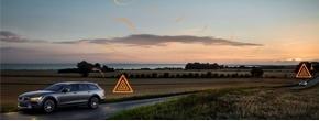 خودروهای ولوو در جادههای لغزنده به یکدیگر هشدار می دهند